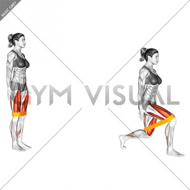 Resistance Band Lunge