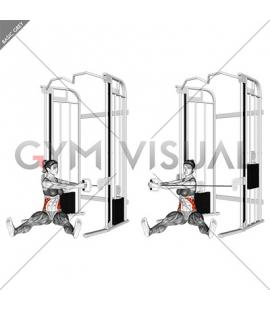Cable Seated Twist on Floor (female)