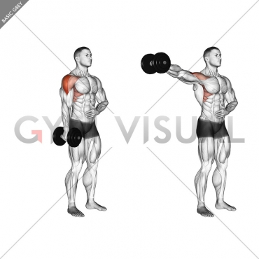 Dumbbell One Arm Lateral Raise