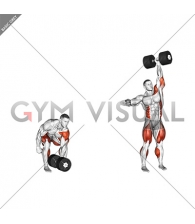 StrongMan Dumbbell One Arm Clean and Jerk