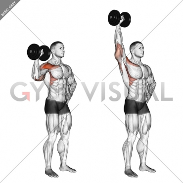 Dumbbell One Arm Shoulder Press (version 2)