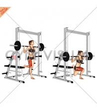 Smith Single Leg Split Squat (female)