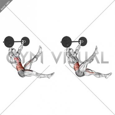 Barbell Sitted Alternate Leg Raise