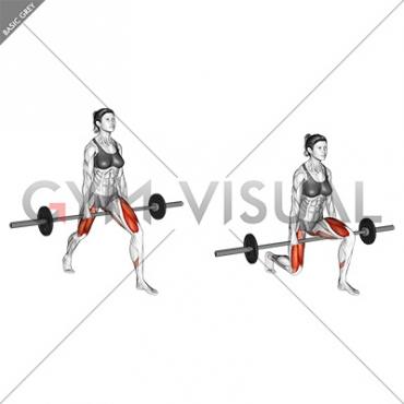 Barbell Split Squat (VERSION 2) (female)