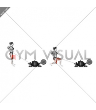 Power Sled Rear Lunge (female)