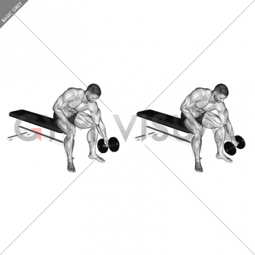 Dumbbell Seated One Arm Rotate