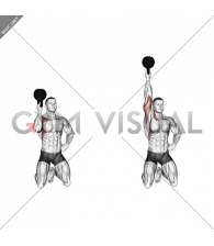 Kettlebell Kneeling One Arm Bottoms Up Press