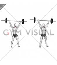 Barbell Overhead Shrug