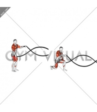 Rear Lunge with Battling Ropes