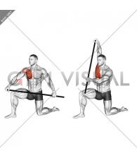Half Kneeling PVC Pec Mobilization Stretch