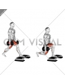 Dumbbell Split Squat Front Foot Elevanted
