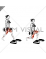 Dumbbell Split Squat Front Foot Elevanted (female)