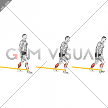 Resistance Band Standing Back Achilles Stretch