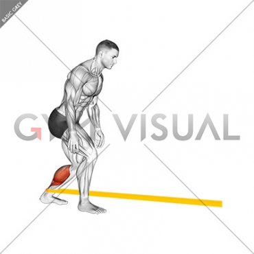 Resistance Band Standing Forward Achilles Stretch