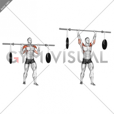 Barbell Military Press (with hanging band technique)