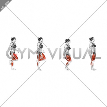 Run and Half Knee Bend (female)