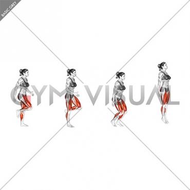 Run and Semi Squat Jump (female)