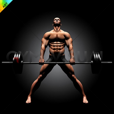 Wide deadlift pose