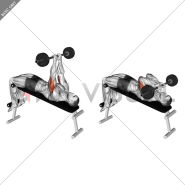 Barbell Decline Close Grip To Skull Press