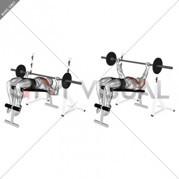 Barbell Decline Wide-grip Press