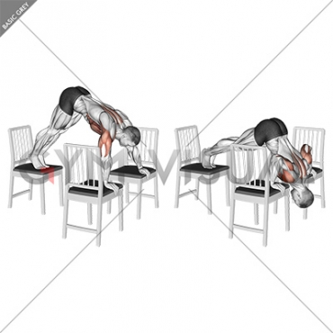 Pike Push-up (between Chairs)