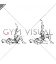 Single Leg Hip Bridge (straight leg) (male)