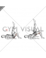 Single Leg Hip Bridge (straight leg) (male)