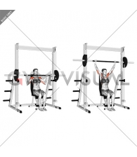Smith Seated Shoulder Press (female)