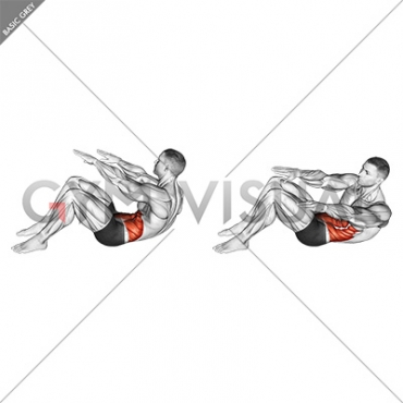 Twisting Crunch (Straight Arms) (male)