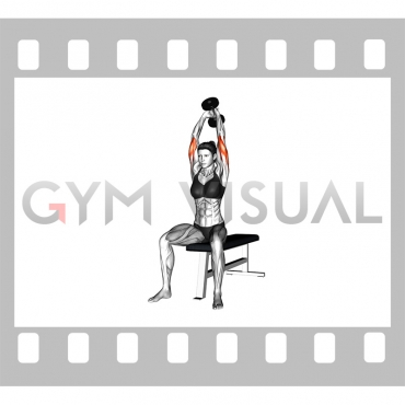 Dumbbell Seated Triceps Extension (female)
