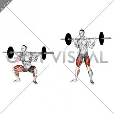 Barbell sumo squat