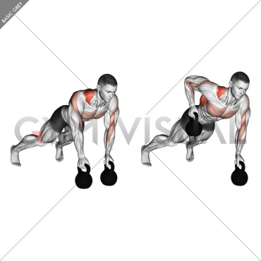 Kettlebell Alternating Renegade Row