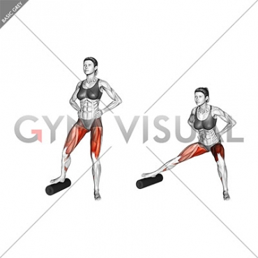Split Lateral Squat with Roll