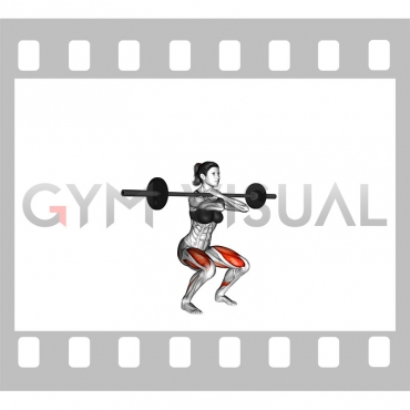 Barbell Front Squat (female)