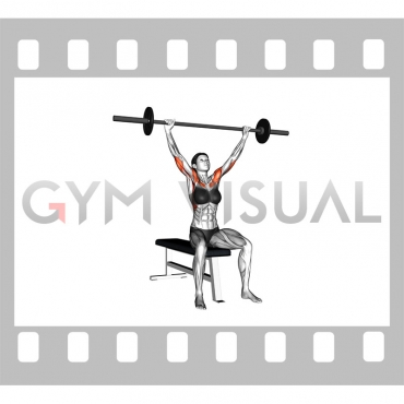 Barbell Seated Overhead Press (female)