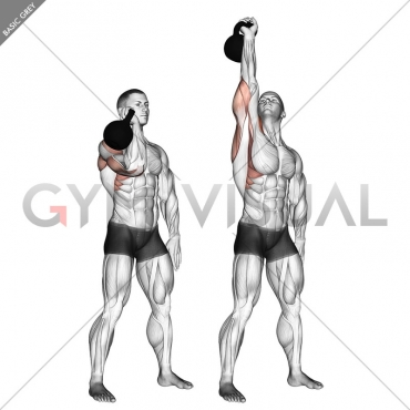 Kettlebell One Arm Military Press To The Side