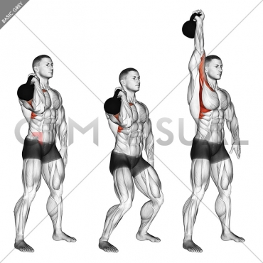 Kettlebell One Arm Push Press