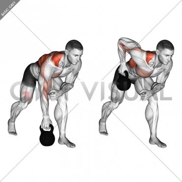 Kettlebell One Arm Row