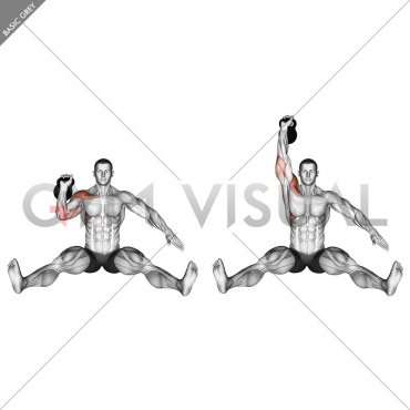 Kettlebell Seated Press