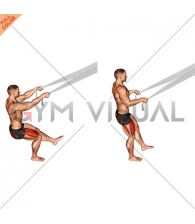 Assisted Pistol Squat with Bed Sheet