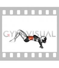 Lying Lower Back Stretch (bent knee) (female)