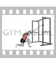 Band kneeling one arm pulldown
