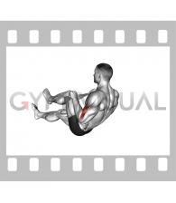 Lying Single Legs Reverse Biceps Curl with Towel