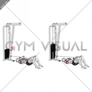 Cable Triceps Pushdown on Floor
