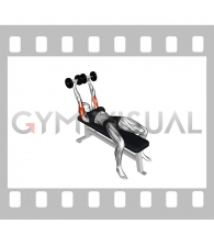 Dumbbell Pronate-grip Triceps Extension (female)