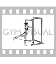 Band Standing Hip Extension (female)