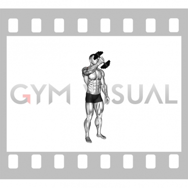 Dumbbell One Arm Low Fly