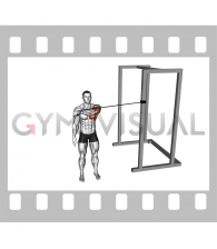Band Cross Body One Arm Chest Press (male)