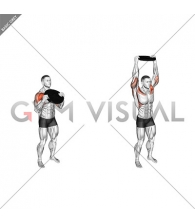 Weighted Standing Shoulder Press