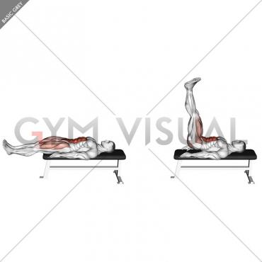 Lying Leg Raise Flat Bench